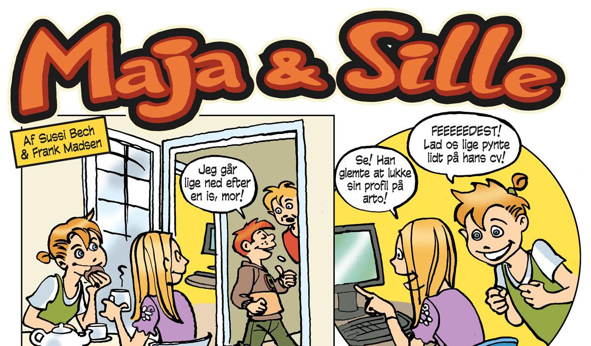 Tegneserier om Maja & Sille