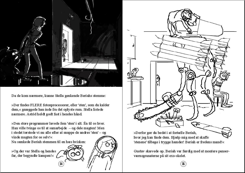 """Opslag fra """"Gustav og Raketbroderskabet"""" bind 5."""