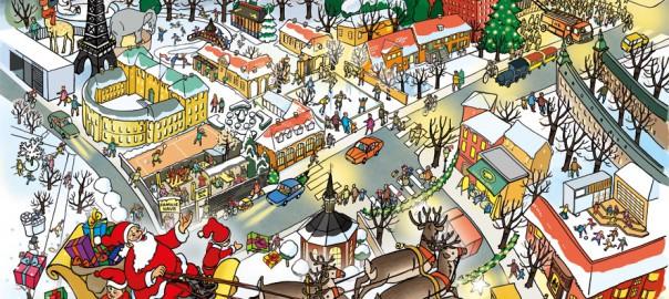 illustration julekalender frederiksberg jul