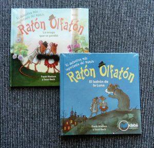 Ratón Olfatón - snus mus billedbøger på spansk Chile